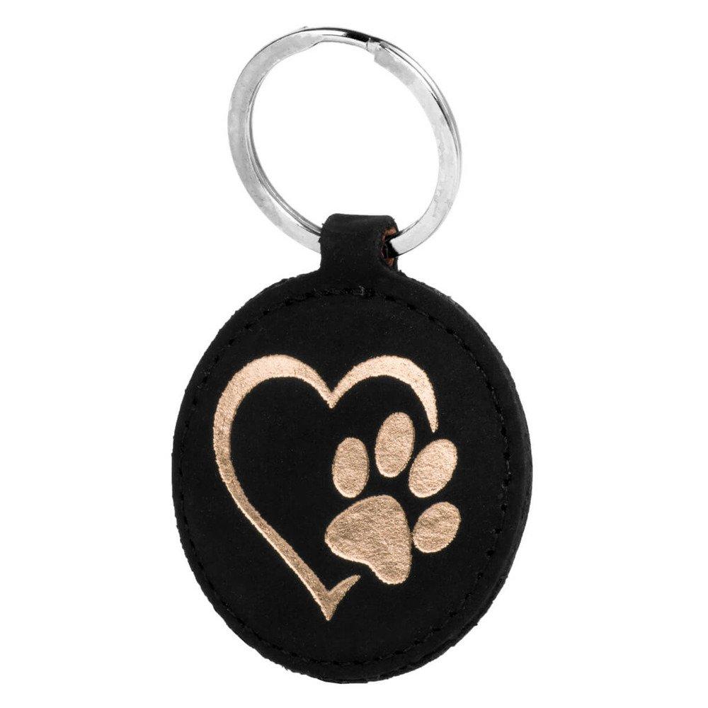 Back case - Nubuck Black - Heart with paw