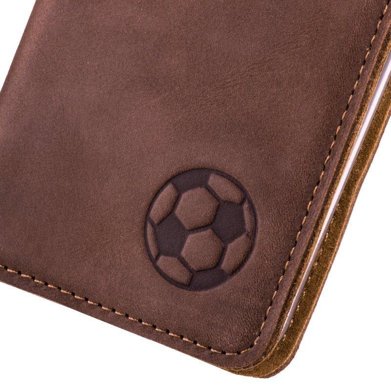 Smart magnet RFID - Nubuck Nut brown - Soccer ball