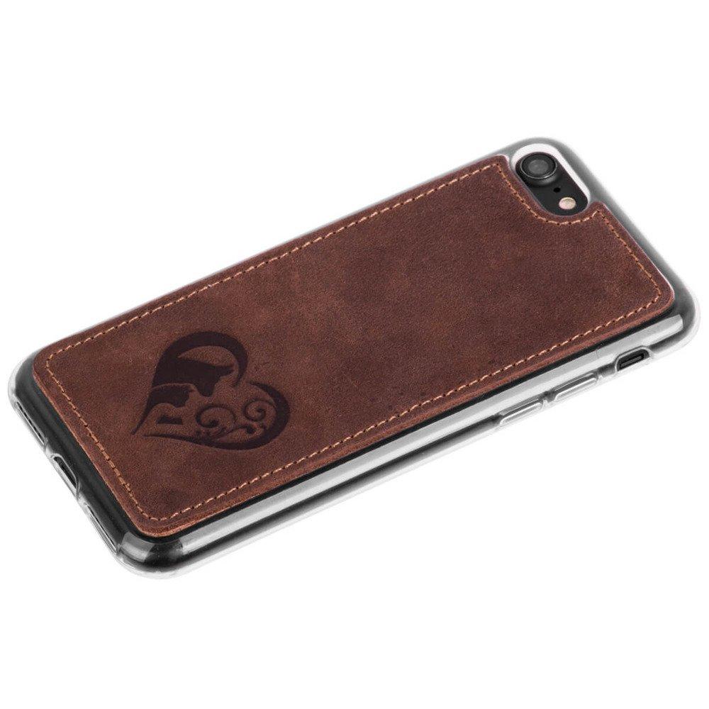 Surazo® Back case phone case Nubuck - Nut brown - Animal love