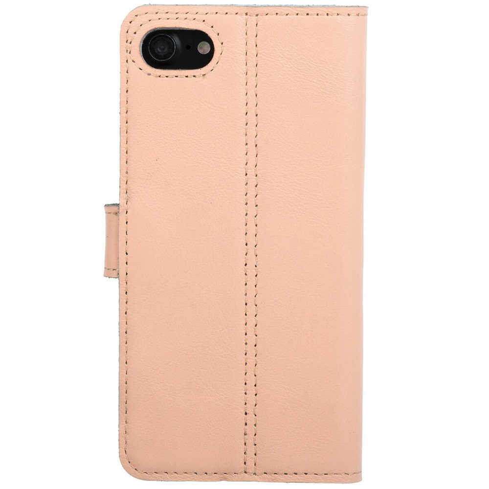 Surazo® Leather Wallet phone case - Pastel Peach - Stars