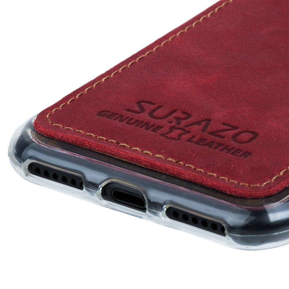 Surazo® Back case phone case Nubuck - Red