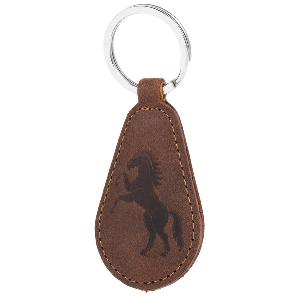 Surazo® Leather Belt Pouch case Nubuck - Nut brown - Horse