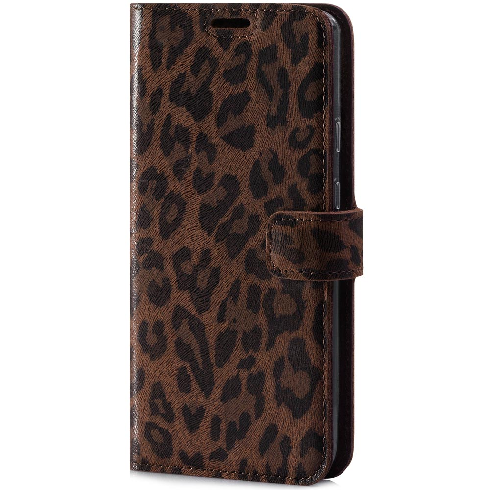 Surazo® Leather Wallet phone case - Panther brown