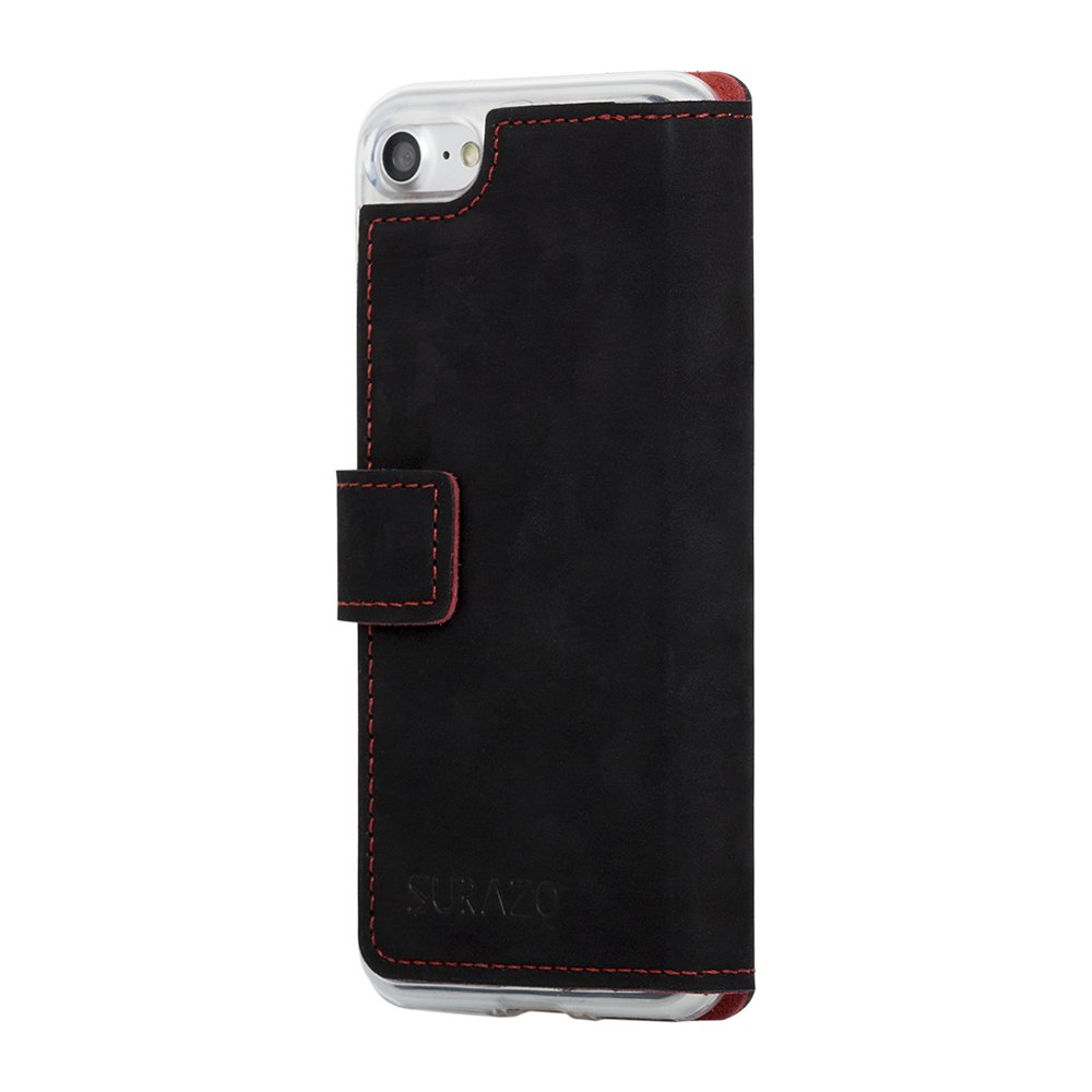 Surazo® Slim cover phone case F1 - Black and Red