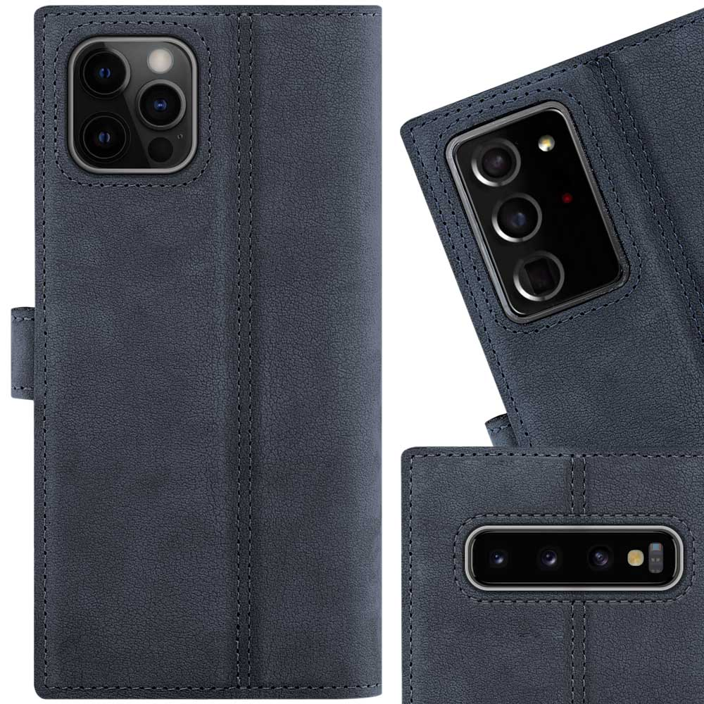 Wallet case - Nubuck Navy Blue - Capricorn