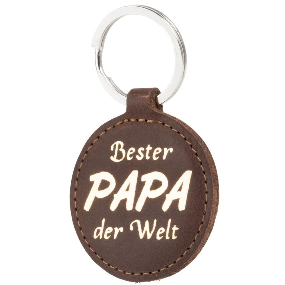 Surazo® Leder Gürtel Hülle Nubuk - Nussbraun - Bester Papa