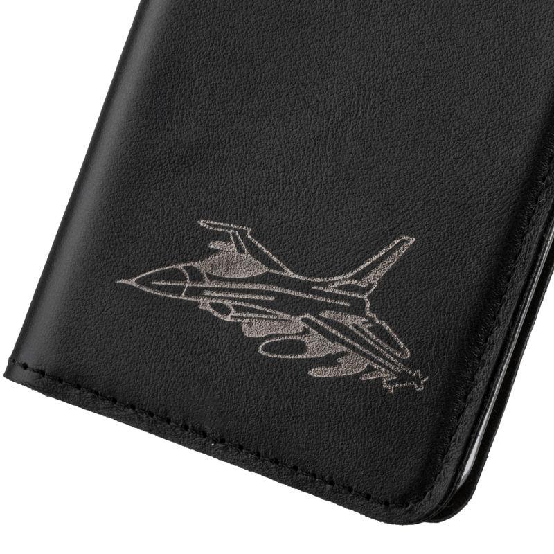 Surazo® Smart Magnet RFID Lederhülle Costa - Schwarz - Düsenflugzeug