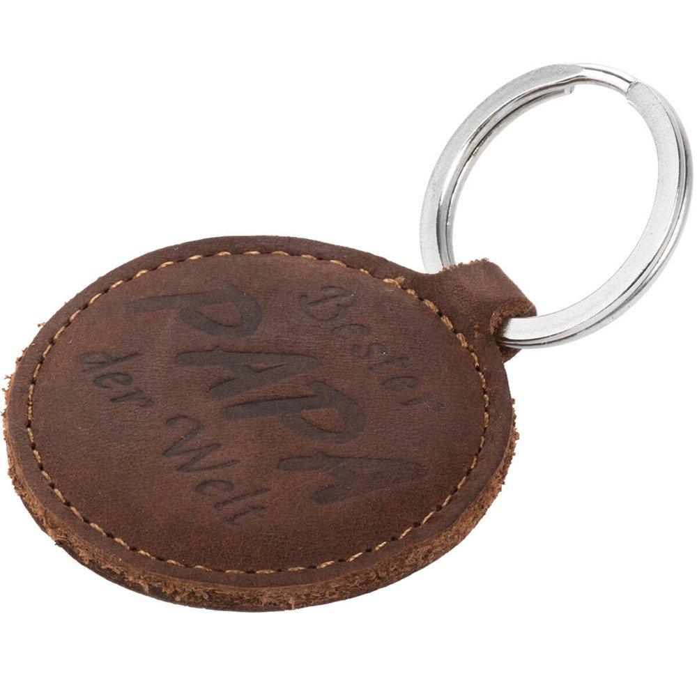 Surazo® Wallet Handy Lederhülle Nubuck - Nussbraun - Bester Papa