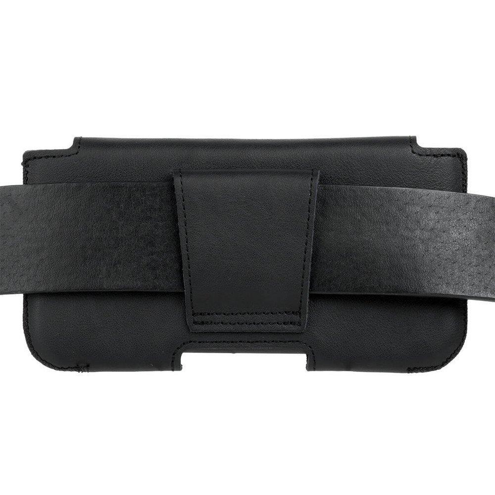 Surazo® Skórzane Etui Belt case - Dakota Czarny - Jeleń