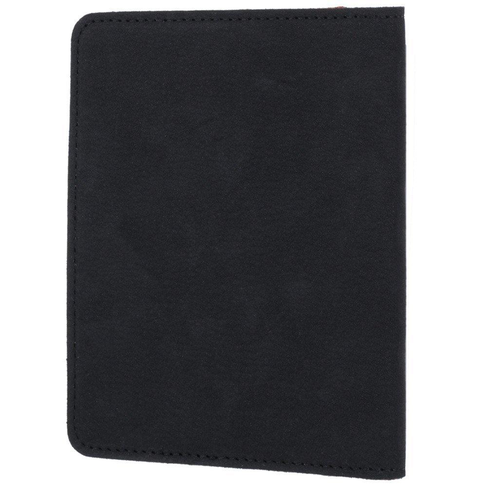 Surazo® Skórzany portfel RFID Nubuk - Czarny