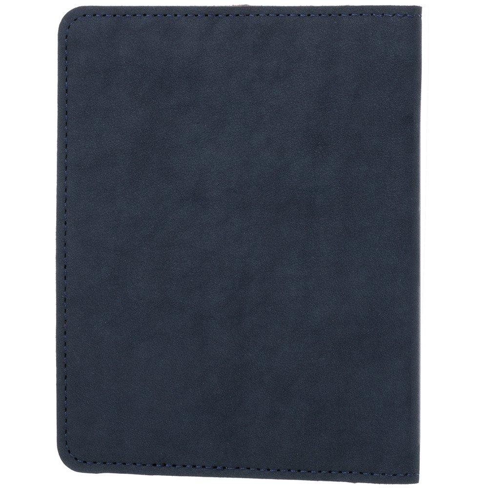 Surazo® Skórzany portfel RFID Nubuk - Granatowy
